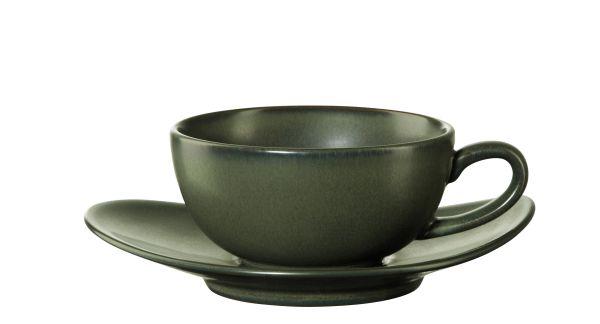 Teetasse mit Unterer, verde