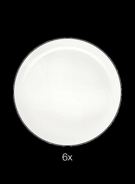 Dessertteller 6er Set, ligne noire