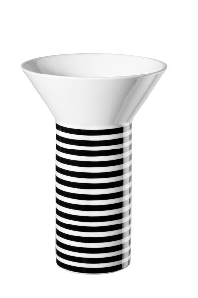 Memphis Vase, striped