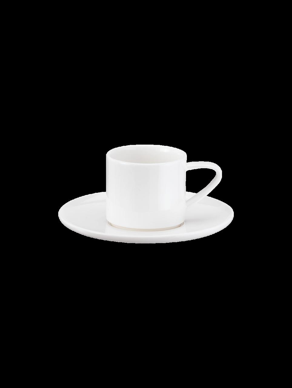 Espressotasse m. unterer stape