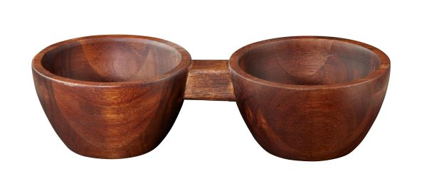 2er Snack bowl, akazie massiv