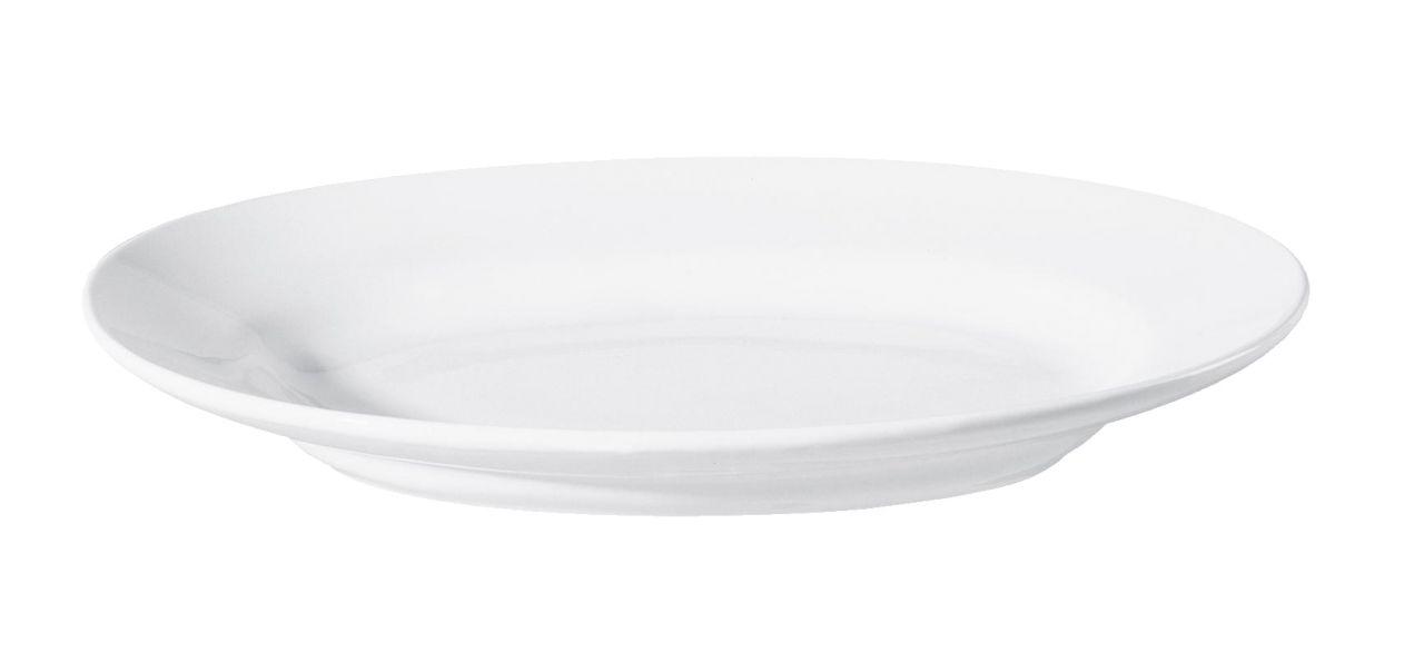 Platte, oval/tief