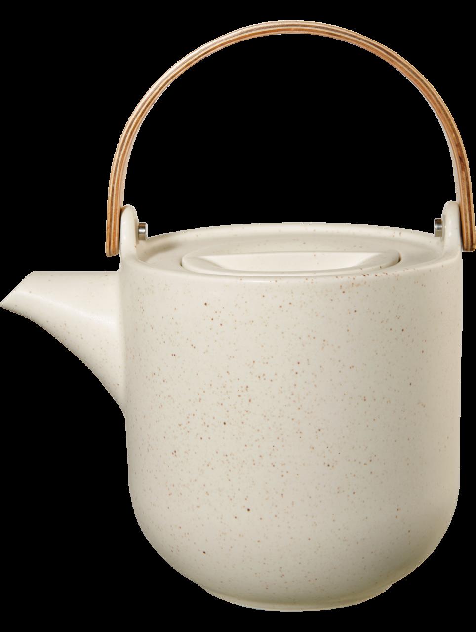 Teekanne mit Holzgriff, sencha