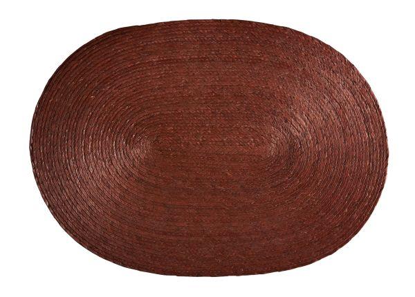 Tischset oval, braun