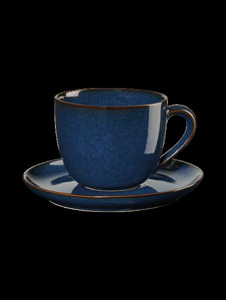 Cappuccinotasse mit Unterer, midnight blue