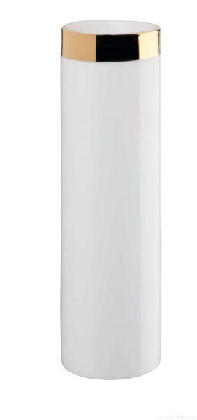 Windlicht / Vase mit Goldrand
