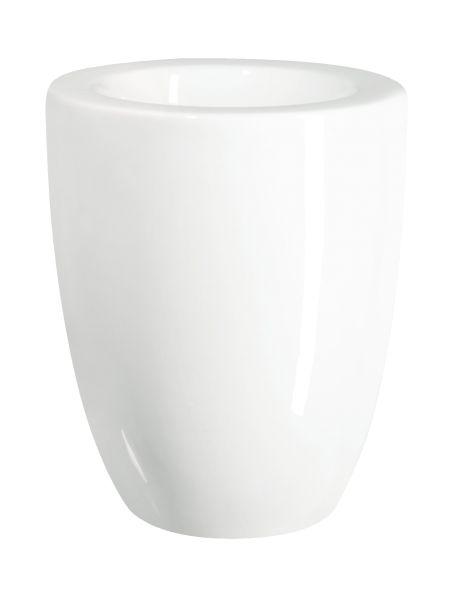 Vase/ Übertopf, weiß