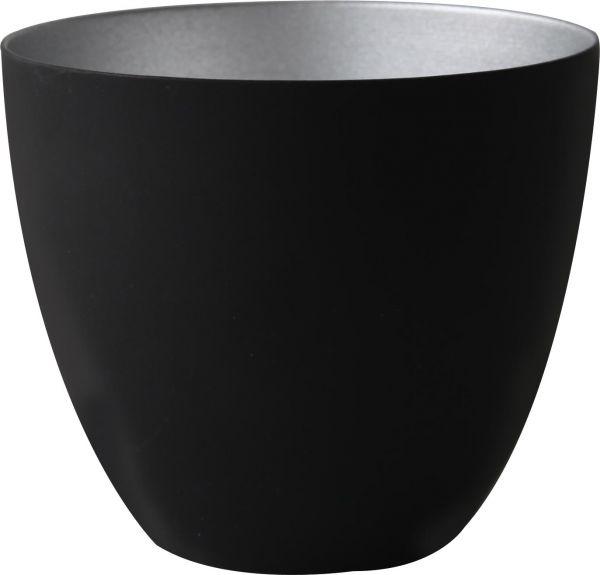 Windlicht x-mas schwarz/silber