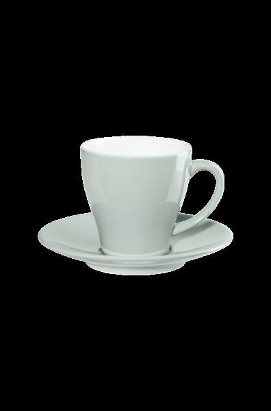 Kaffeetasse mit Unterer, pale sky