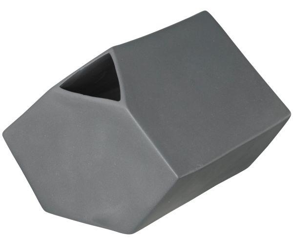 *Vase eckig, basalt