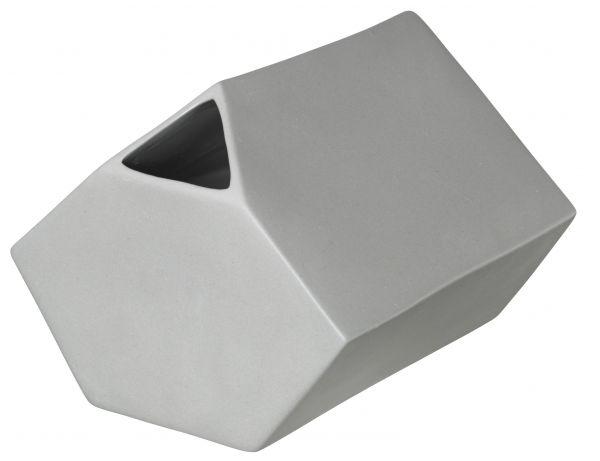 *Vase eckig, cement