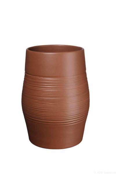 Vase, pecan
