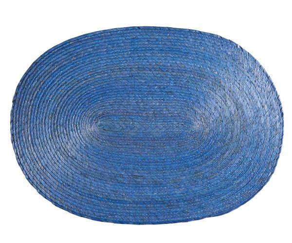 Tischset oval, hellblau