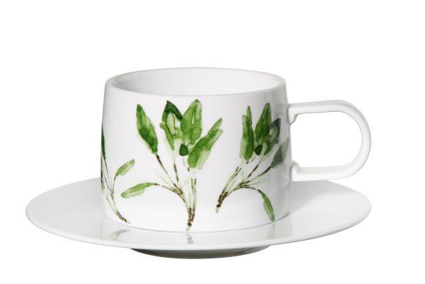 Tasse mit Unterer - salbei -