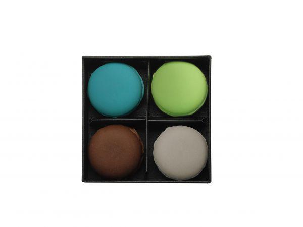 4er Set Macaron, mint & chocolate