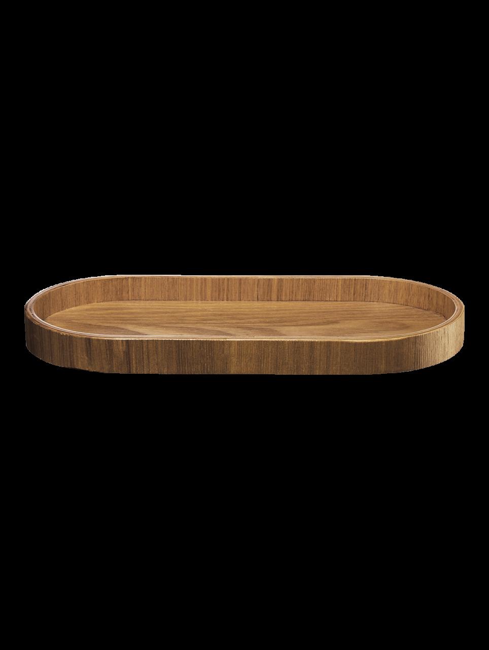 Holztablett, oval