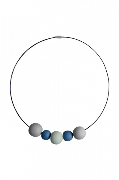 Kette Dots blau