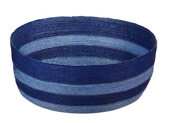*Korb L rund, blau hellblau ge