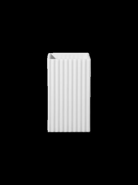 vase à relief, blanc