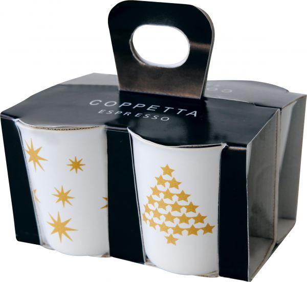4er Set Espressobecher, 2 Motive