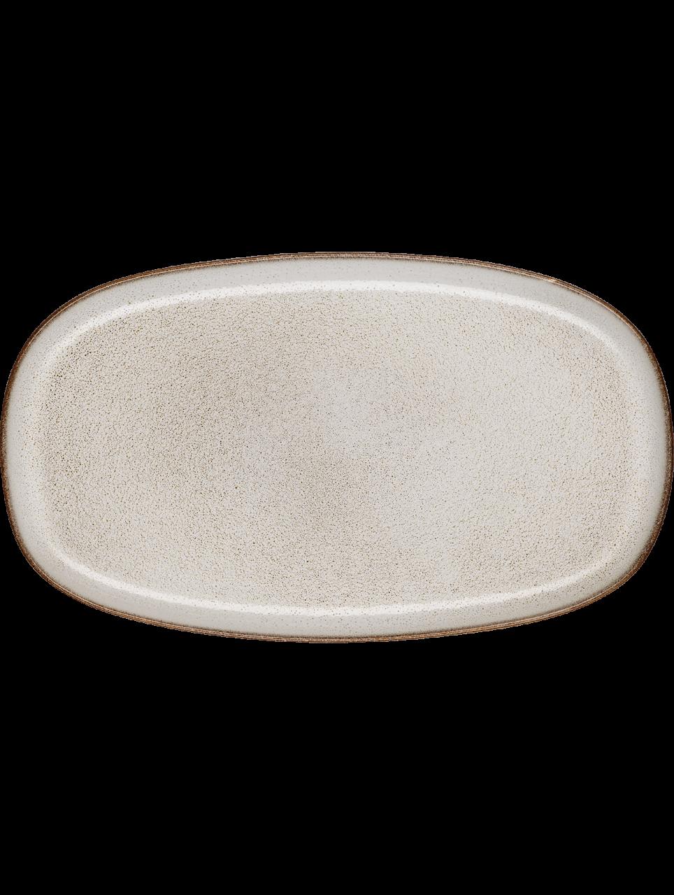 Platte, oval, sand