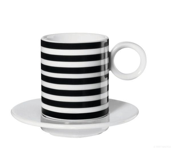 2er Set Espresso Tasse, s/w