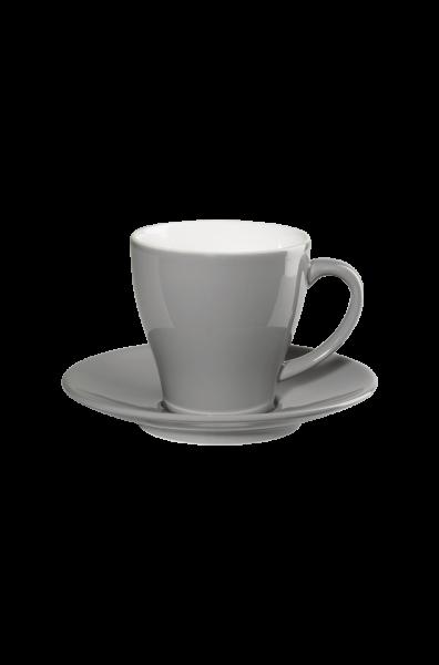 Kaffeetasse mit Unterer, grau