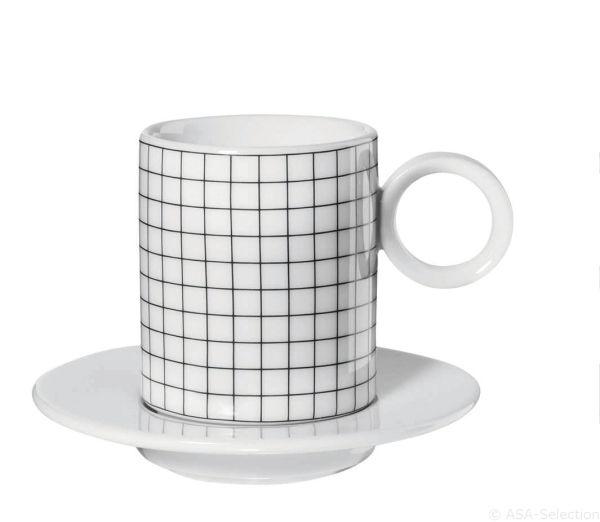 Espressotasse 2erSet, squares