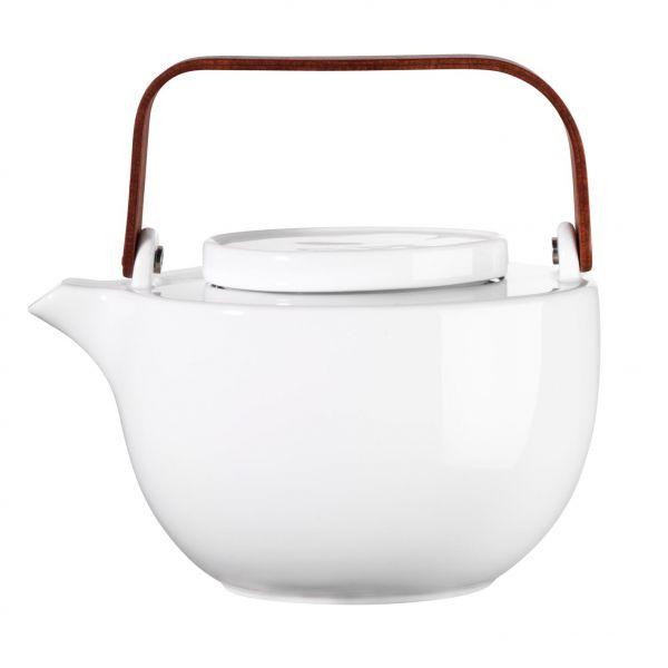 Teekanne, oval, mit Edelstahls