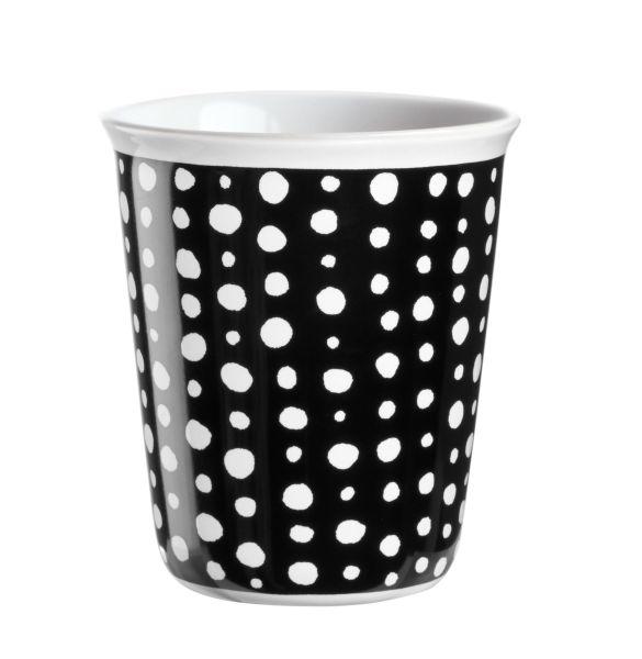 Becher Espresso, white spots