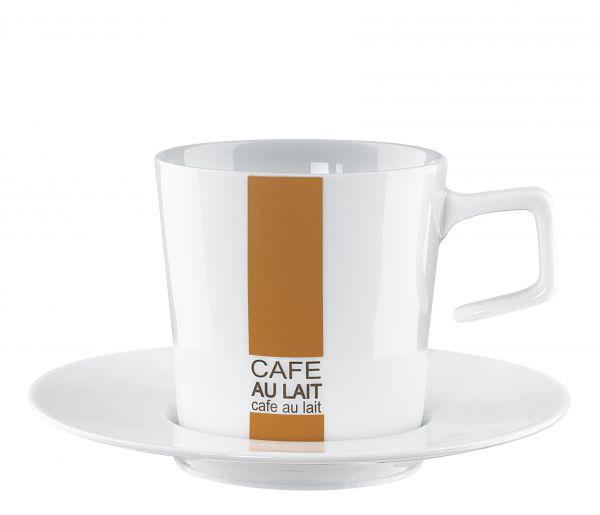 *Cafe au lait Tasse mit Untere