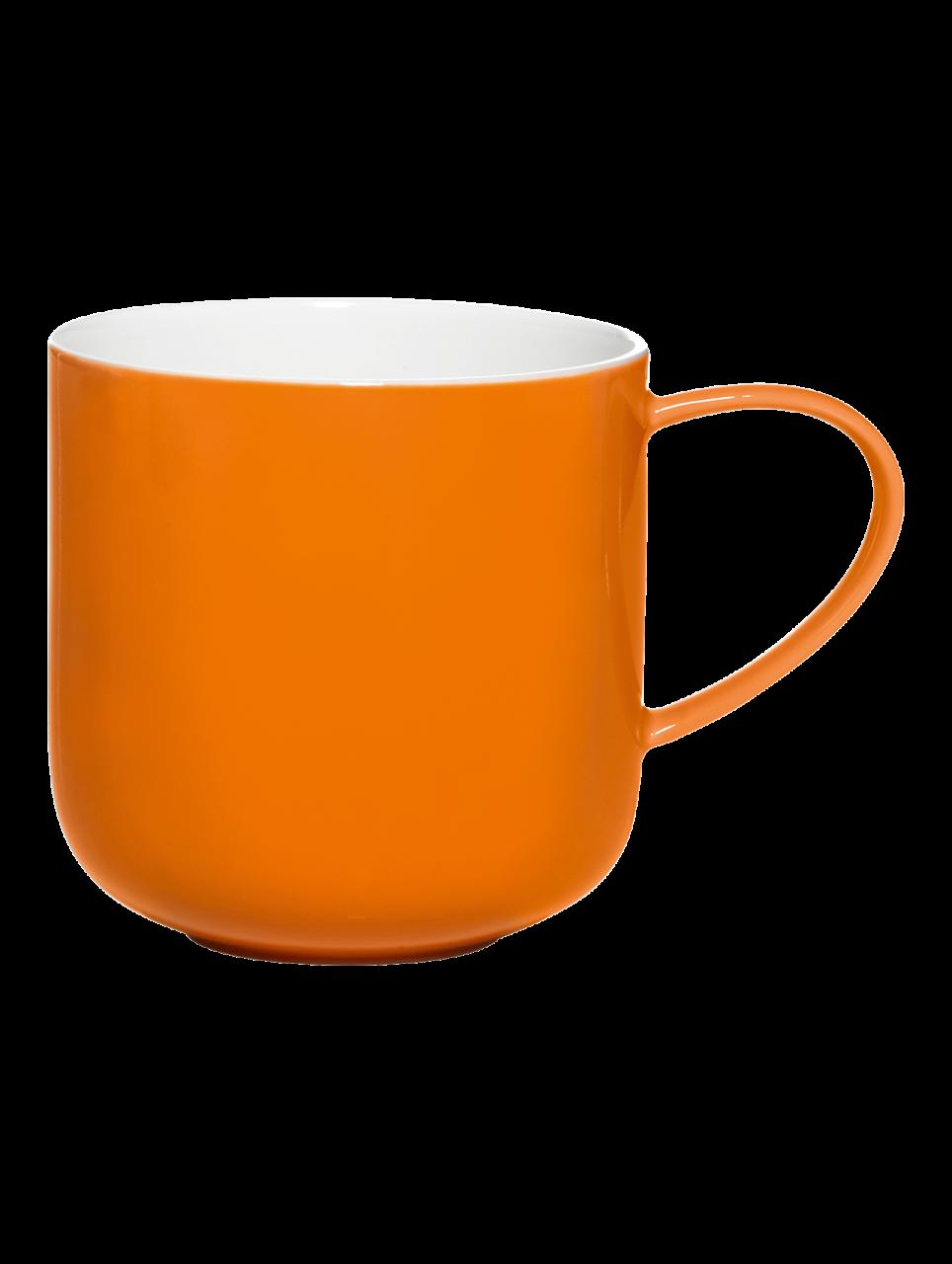Henkelbecher, orange