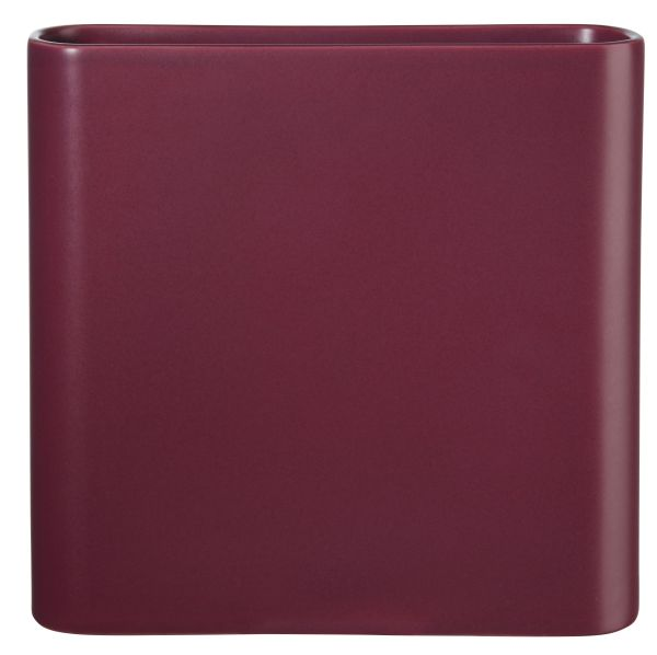 Vase, red plum