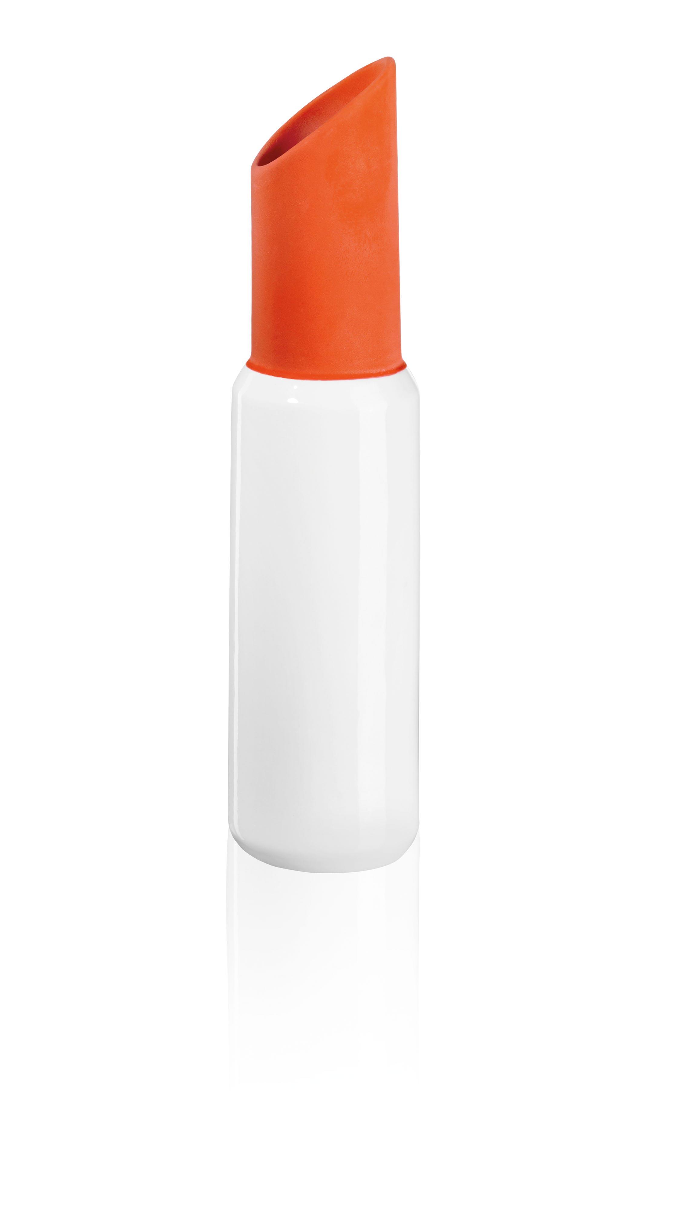 lipstick vase orange vasen wohnaccessoires produkte. Black Bedroom Furniture Sets. Home Design Ideas