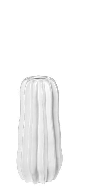 Kaktus- Vase, weiß