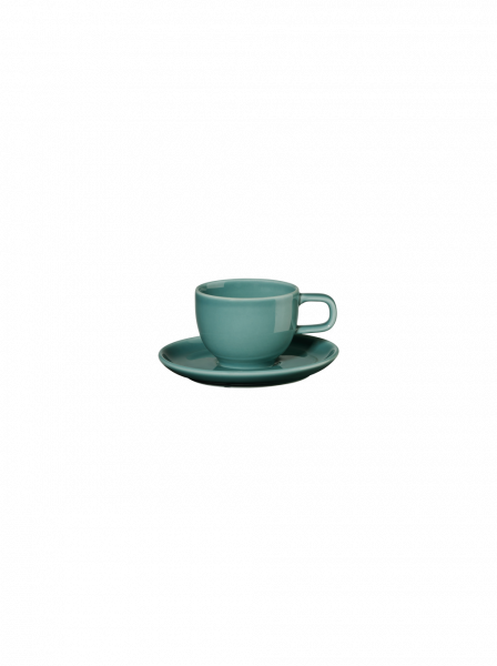 Espressotasse mit Unterer, petrol