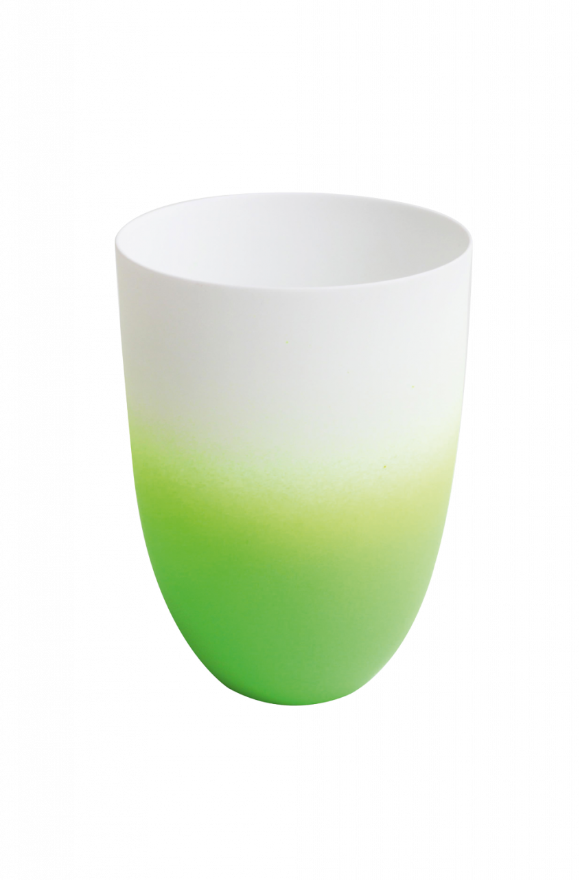 *Vase/ Windlicht grün