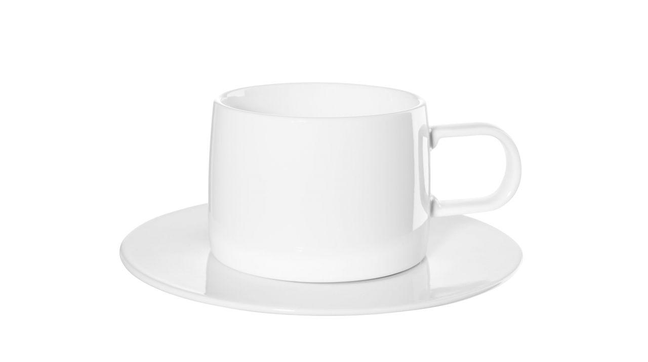 Tasse mit Unterer, weiß