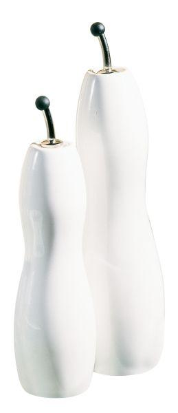 Essig-/Ölflasche, geschwungen, Porzellan