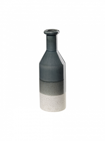 Vase, petrol grau