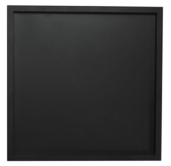 Holztablett quadratisch, schwarz