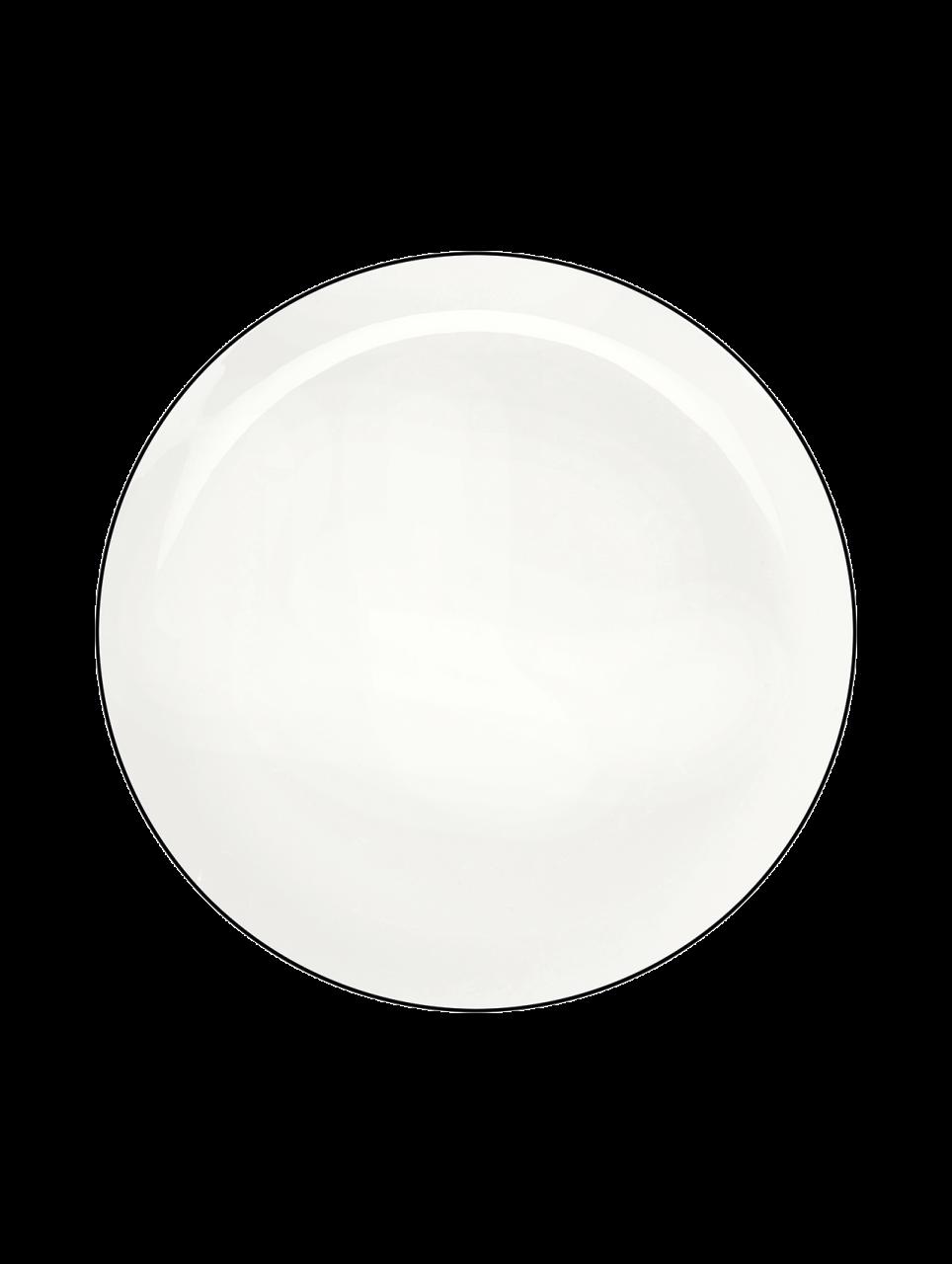 Dessertteller, ligne noire