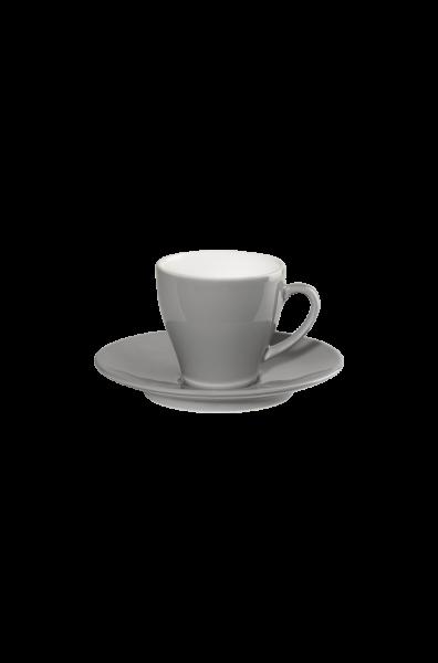 Espressotasse mit Unterer, grau