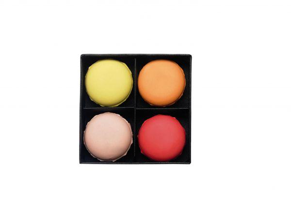 *4er Set Macaron, vanilla & fr