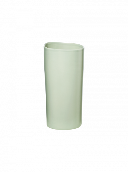 Vase, green blush
