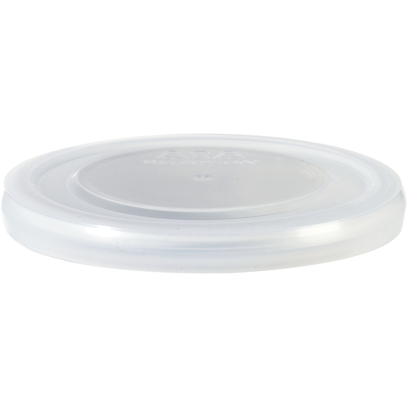 Plastikdeckel, transparent d. 6,5 cm