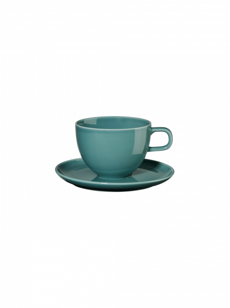 Kaffeetasse mit Unterer, petrol