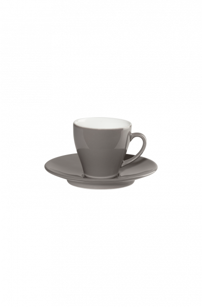 Espressotasse mit Unterer, taupe