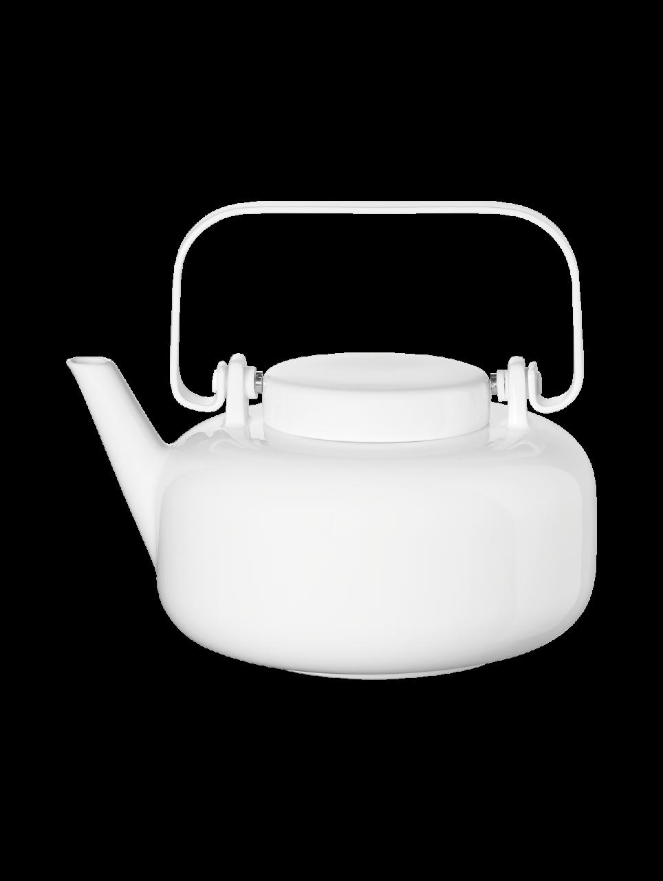 Teekanne, inkl. Edelstahlfilter, weiß