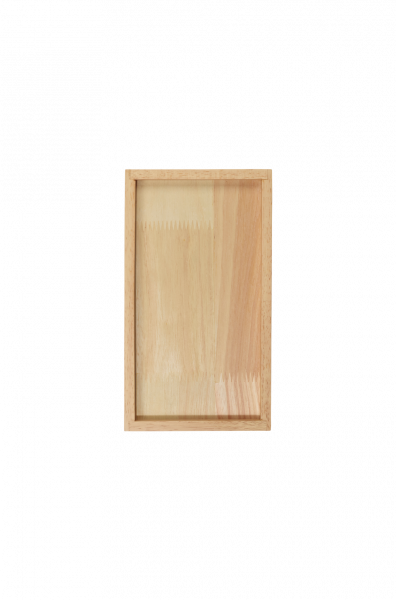 Holztablett rechteckig, natur